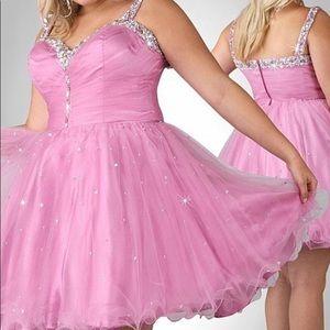 f2eb6c97b0c5c Xcite Prom Dresses - Tulle A-line beaded sweatheart short Plus Size